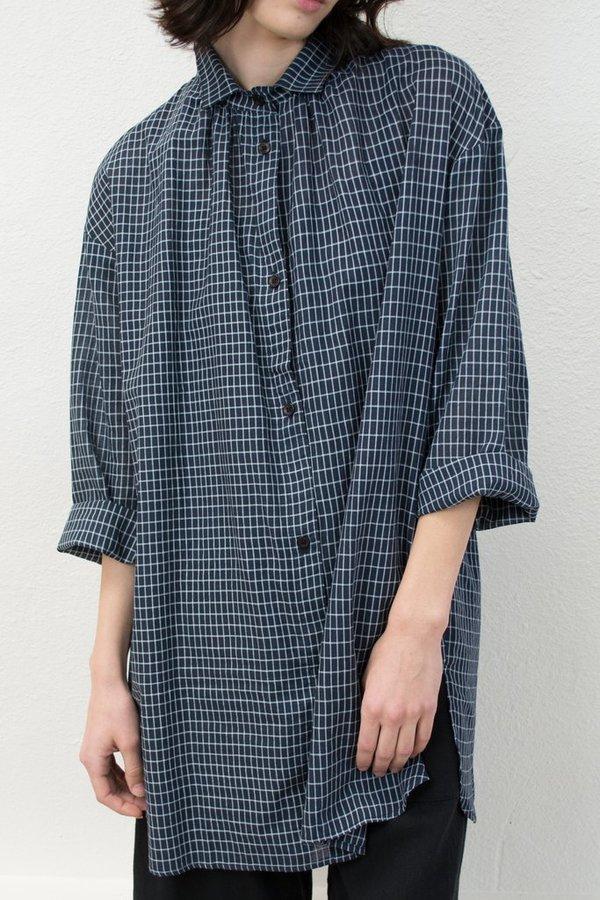 Micaela Greg Long Sleeve Button Up - Grid