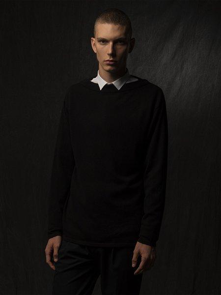 Pure Cashmere NYC Men Boat Neck Sweater - Black