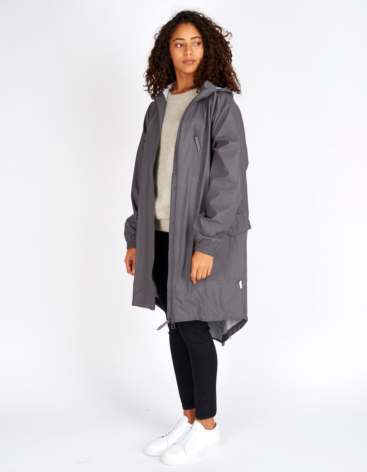 Rains Parka Coat Women's Smoke | Garmentory