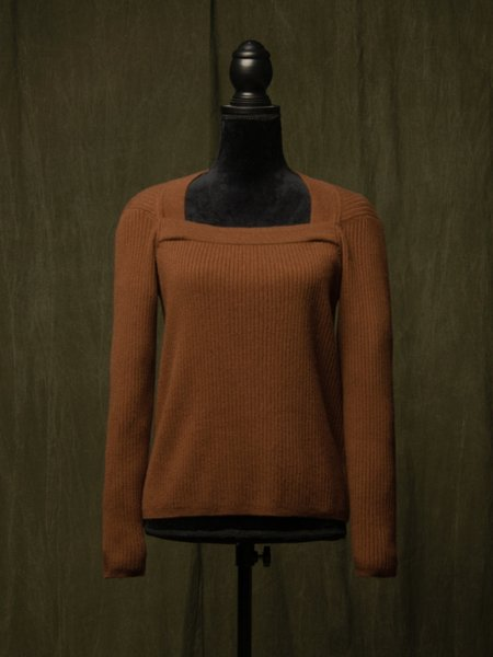 Pure Cashmere NYC Square Neck Sweater - Sienna