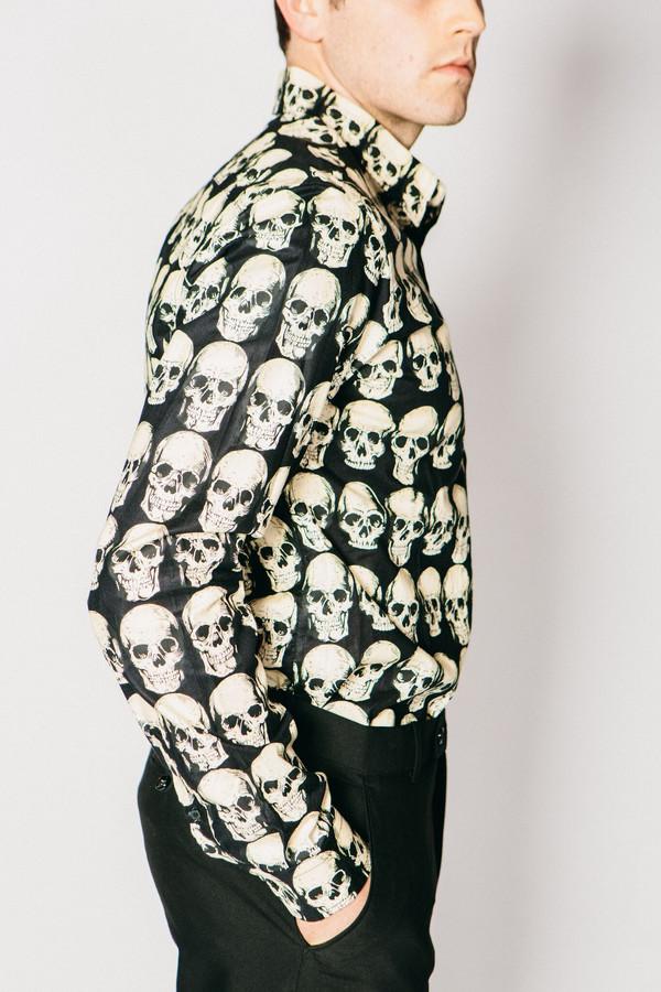 Men's Any Old Iron Skull Print Shirt