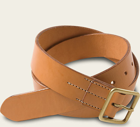 Red Wing Shoes Vegetable Tanned Leather Belt - Natural Tan