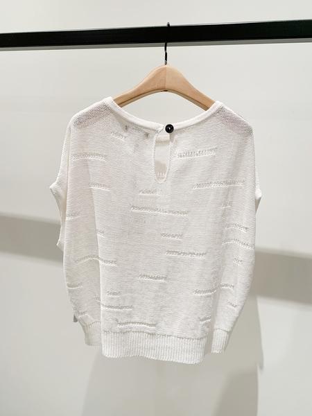 Sarah Pacini linen cap sleeve sweater - white