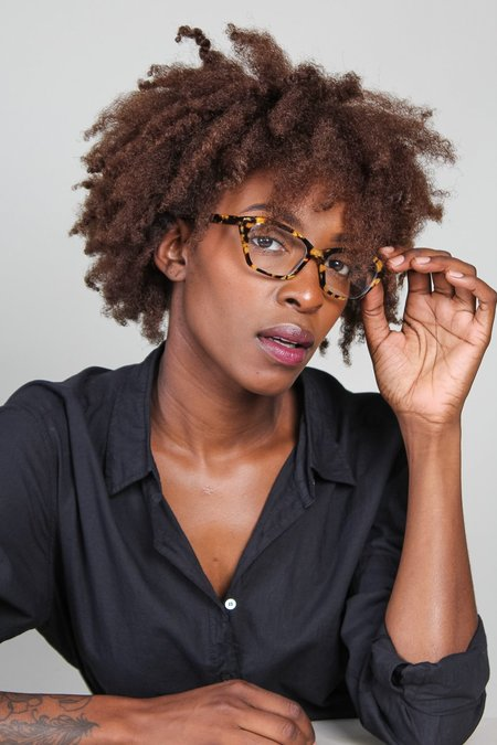 Lowercase Mckenna Optical Glasses - Gold Marble