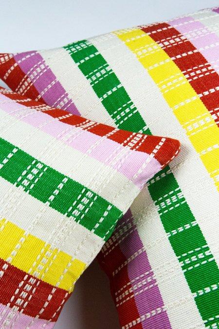 Archive New York Santiago Rainbow Grid 18x18 Pillow - multi