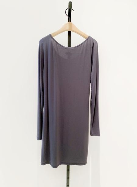 Sarah Pacini modal tunic top - CHARCOAL
