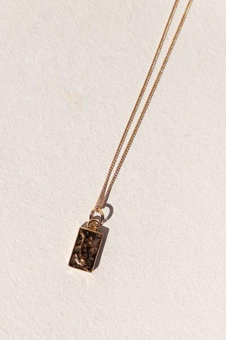 Flash Jewellery Ignot Necklace - 14k Vermeil