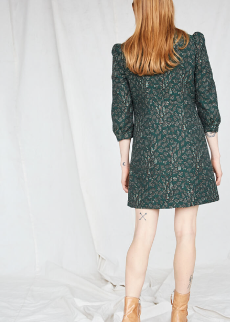 Rust Cold Mountains Dress - Emerald