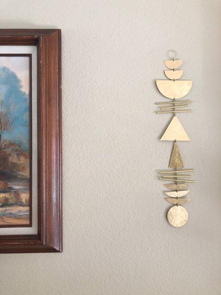 Vida + Luz True North Hammered Brass Hanging