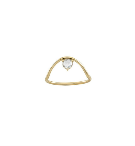 WWAKE Sloped Arc Rose Cut Diamond Ring