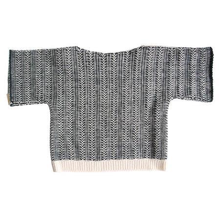 Kids Cataleya Lattice Cashmere Sweater - Black