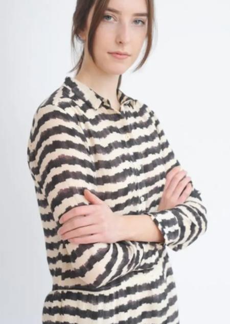 Tinsels Marja Dress - Noir Stripe