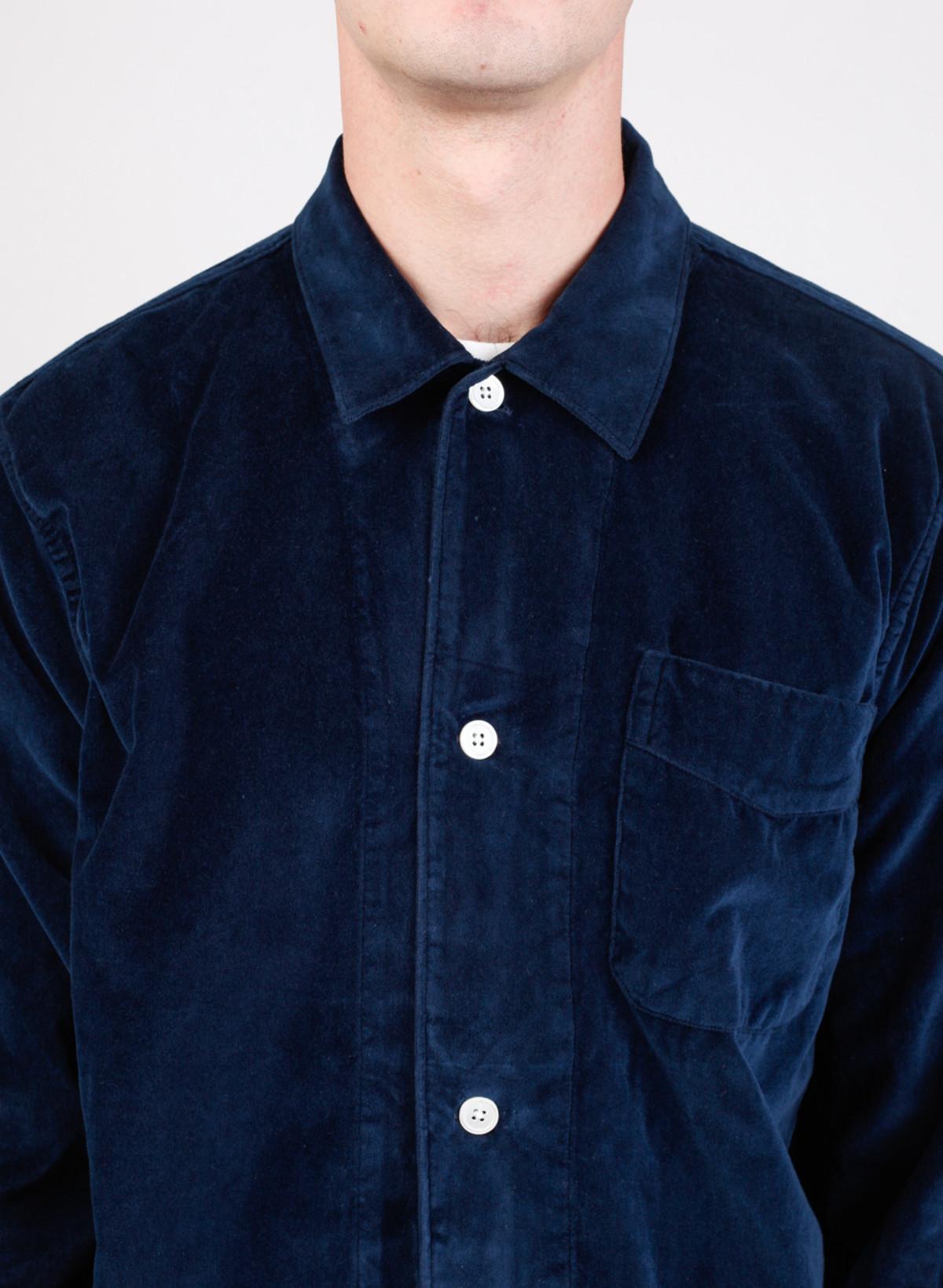 Men S Our Legacy Box Shirt Navy Velvet Garmentory