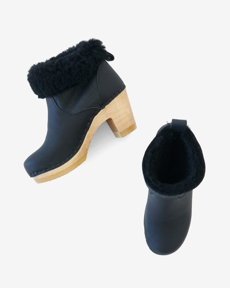 No.6 Shearling Clog Boot - Black Aviator