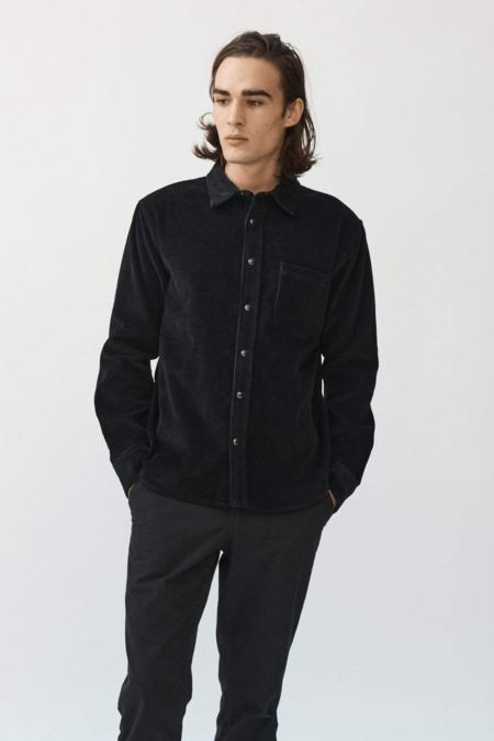 Corridor Snap Cord Shirt - Black