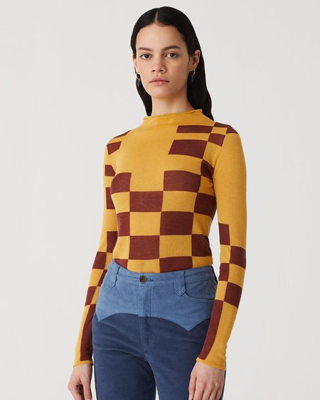 Paloma Wool Pixel Top - Yellow