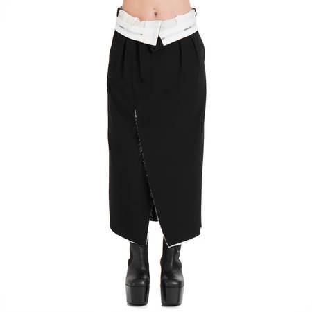 AMBUSH Folded waist skirt - black