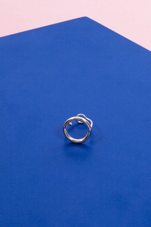 Faux/Real Everything Bagel Ring (Silver)