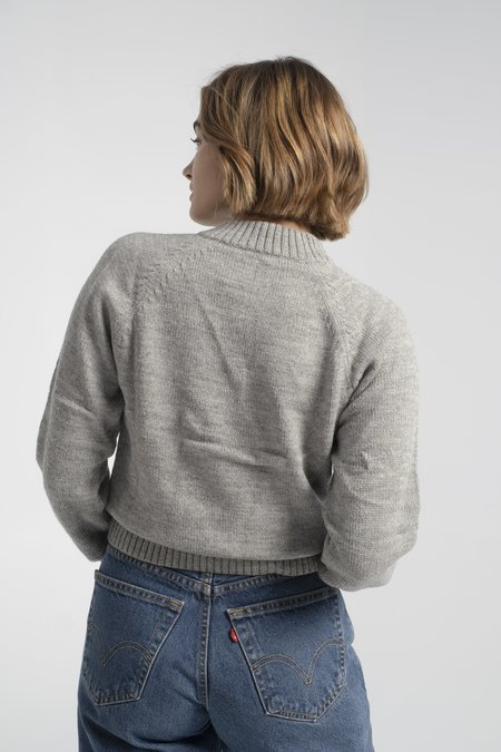 Rachel Antonoff Shmear Pullover - Grey Bagel