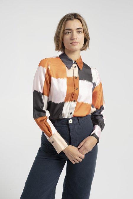 Marimekko Toiveikas Ostjakki Shirt - Beige/Black/Orange