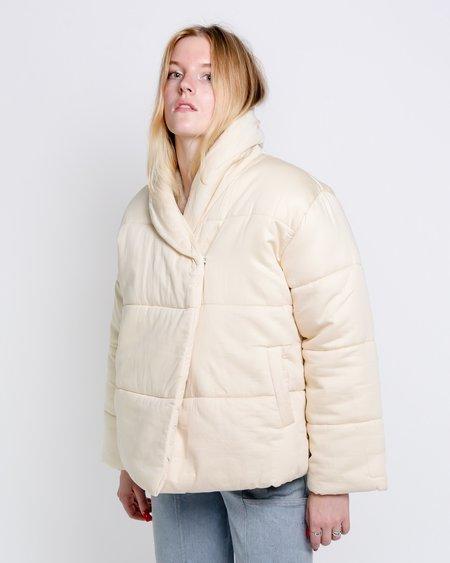 Micaela Greg Short Cotton Puffer Jacket - Pearl