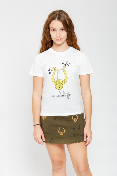 ARTEMIS & APOLLONApollon's Lyre T-Shirt - White