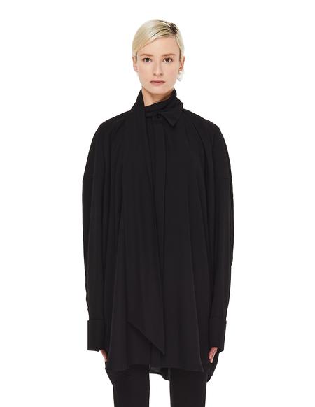 Balenciaga Black Tuxedo Scarf Shirt