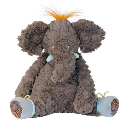 KIDS Moulin Roty Le Roty Moulin Bazar Bo The Elephant Soft Toy - Gray