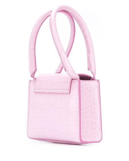 By FAR Croc Leather Sabrina Handbag - Pink