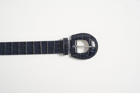 Maryam Nassir Zadeh Bruno Belt - Navy Croc