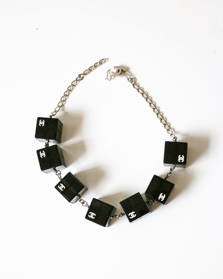 Chanel Logo Cube Necklace