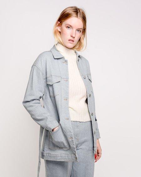 Rita Row Tesa Belted Denim Jacket - Eco Blue