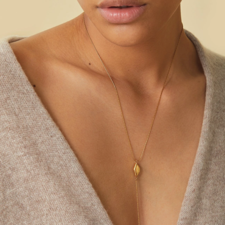 Jenny Bird Constance Lariat Necklace - Gold