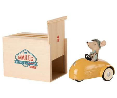 Kids Maileg Mouse Car with Garage - Yellow