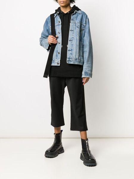 CONCEPTS D'ODEUR Wool Drop Crop Stripe Pants - Black Stripe