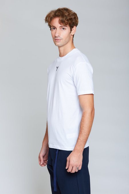 ANT/BODIES Y Embroidery Top - White