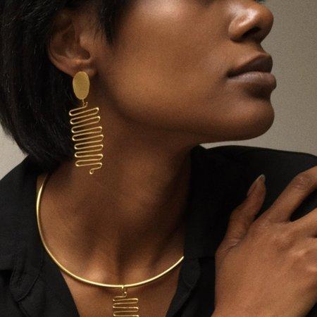 Mahnal Janan Earrings - Brass