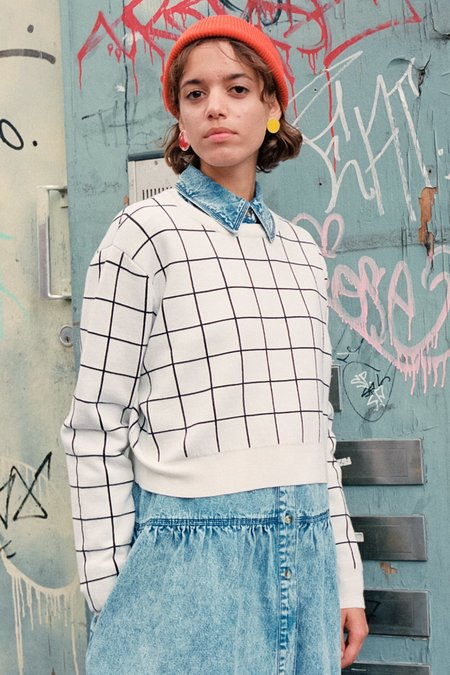 L.F.Markey Jules Pullover Sweater - Windowpane