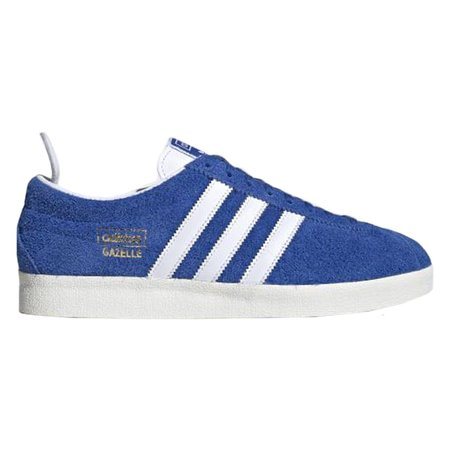 Adidas GAZELLE VINTAGE SHOES - BLUE/CLOUD WHITE/GOLD METALLIC