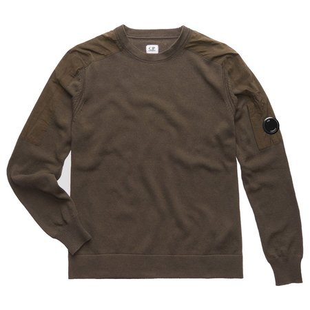 C.P. Company Cotton Mixed Lens Crew Sweat - Forest Night