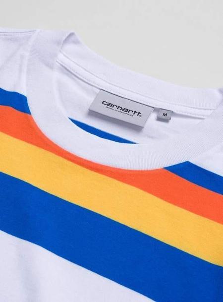 Carhartt L/S Huntington T-Shirt - Stripe White Clockwork
