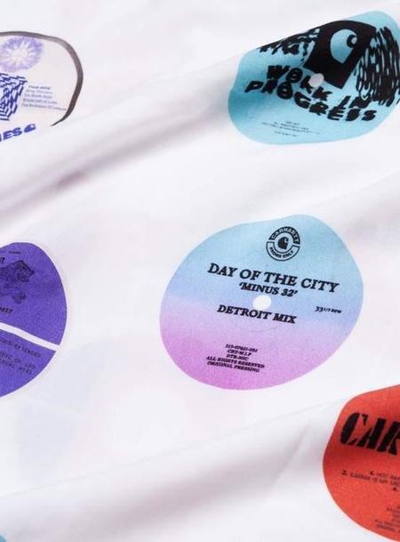 CARHARTT WIP Short Sleeve Record Print Shirt - White