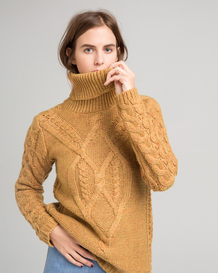 Sessun Wicklow cableknit sweater