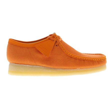 Clarks Originals Wallabee shoes - Orange Textile