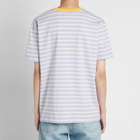 HOWLIN' Contrast Rib Stripe T Shirt - Light Violet