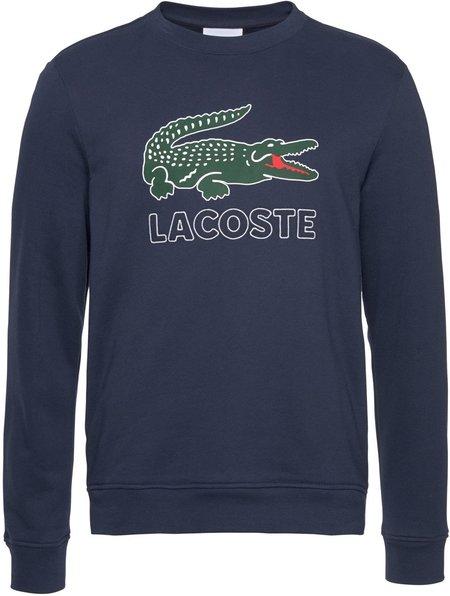 Lacoste Men's Logo Cotton Fleece SH6382 Sweatshirt - Marine Blue