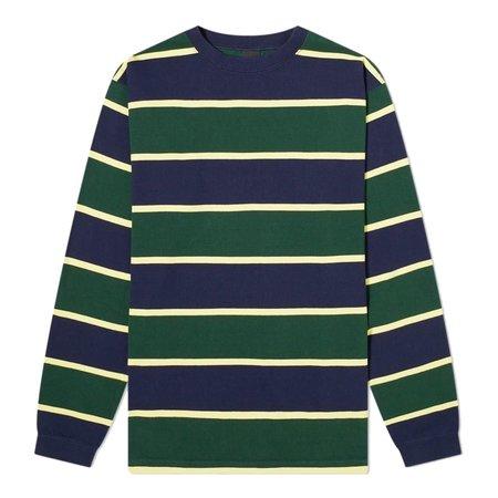Manastash Long Sleeve Rugby Stripe T-Shirt - Navy/Green