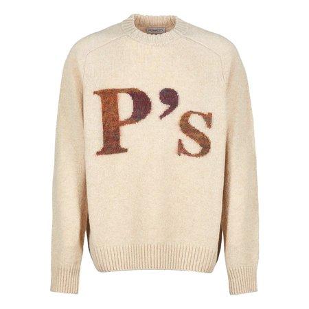President's P's Intarsio Soft Shetland Crew sweater - Natural