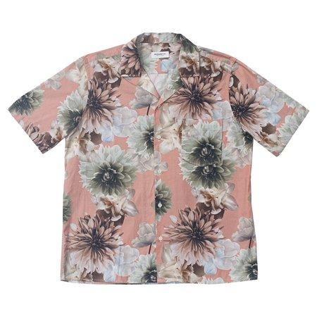 PRESIDENT'S Rangi Popeline Print Shirt - Flower Rose