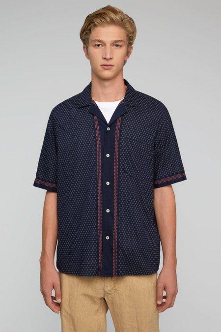 PRESIDENT'S Rangi Short Sleeve P'S Chiba Print Shirt - Blue Navy